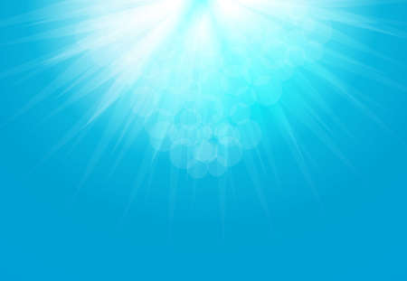 Sun Rays Blue  Clean Design Backdrop