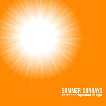 Orange Sun  Beautiful Sunny Backdrop  Vector
