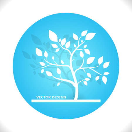 Design Tree  Vector Illustration  Green Color