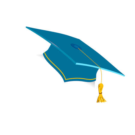 Blue Education Cup on white background. Vector illustration