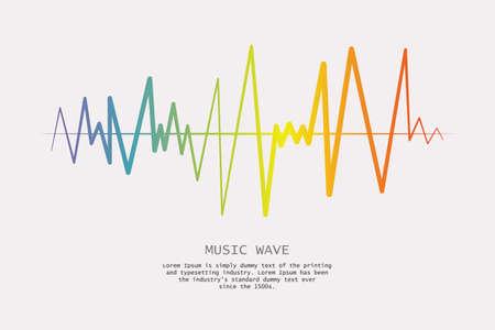 Music wave player logo. Colorful equalizer element. Isolated design symbol. Vector Illustration