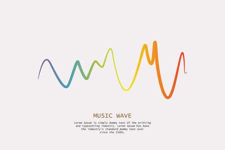 Audio colorful wave icon design