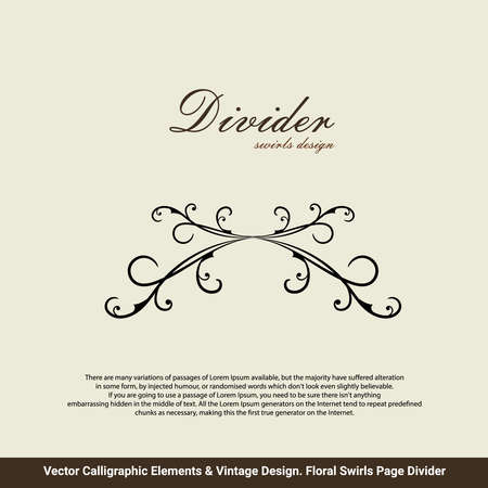 Victorian Grunge Calligraphic. Wedding Invitations. Vector frame element. Vintage Ornament Greeting Card. Flourishes Ornament Retro Royal Luxury Invitation, Certificate with place for your Text.