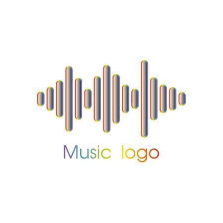 Music player logo. Stock Photo