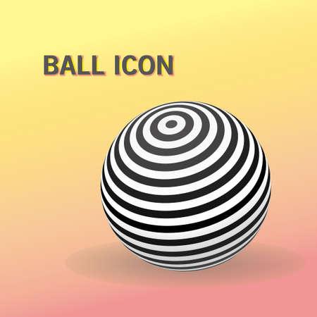 Striped ball logo