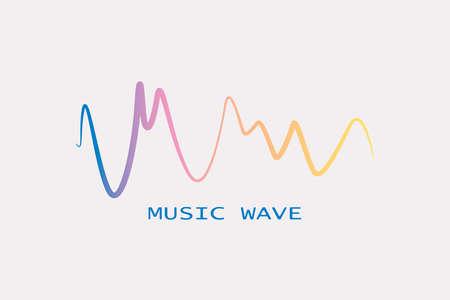 Sound banner. Color logo equalizer Illustration