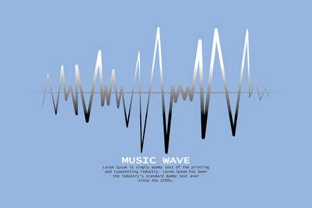 Music wave player logo.