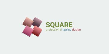 Vector Logo Design. Abstract symbol. For any company Illustration