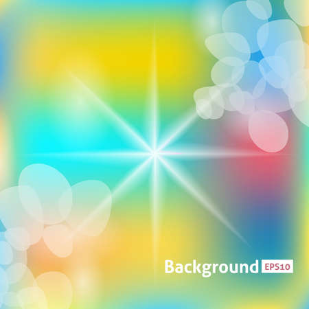 Sun rays color illustration. Abstract vector background Illustration