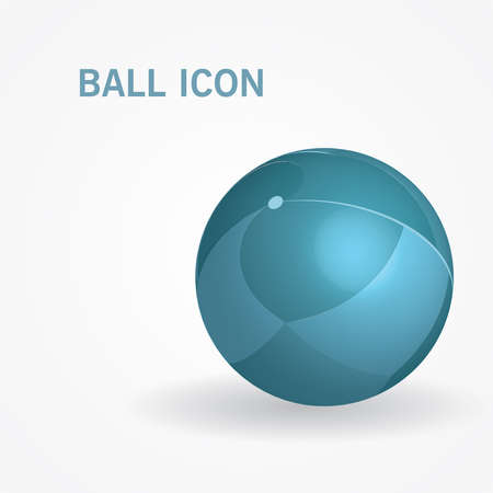 3d isometric ball. Vector illustration. Can be used for web design and workflow layout Illustration