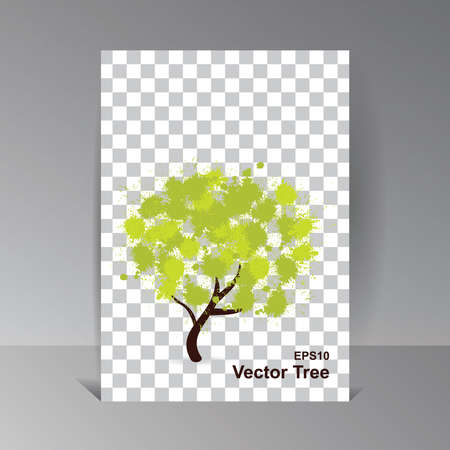 Eco Tech. Ecology Design Background. Vector Illustration