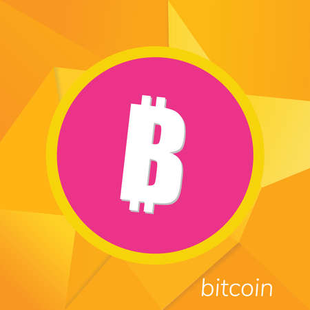 Bitcoin logo. Cryptography currency sign icon symbol Illustration