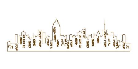 Vector city silhouette Illustration