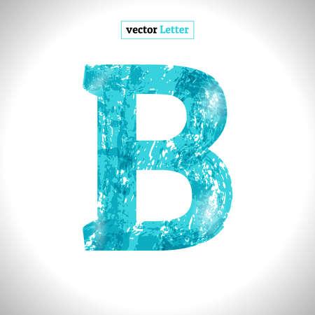 Font Symbol. Grunge Vector Blue Sketch Style. Vecteurs