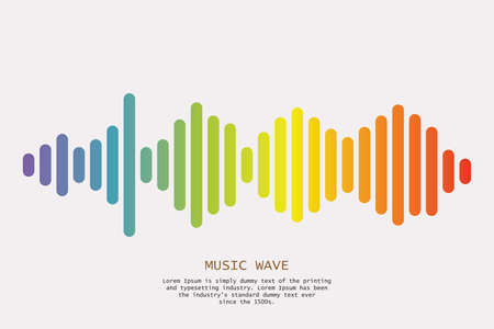 Colorful sound waves background