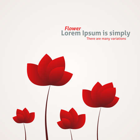 Flower vector background Stock Photo