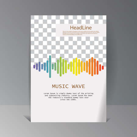 Colorful sound waves banner.