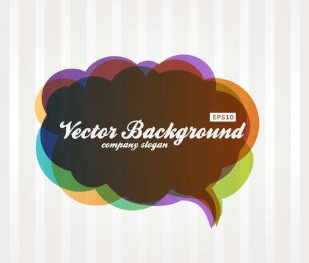 Speech Bubble Background. Vector Design illustration. Dialog Balloon.