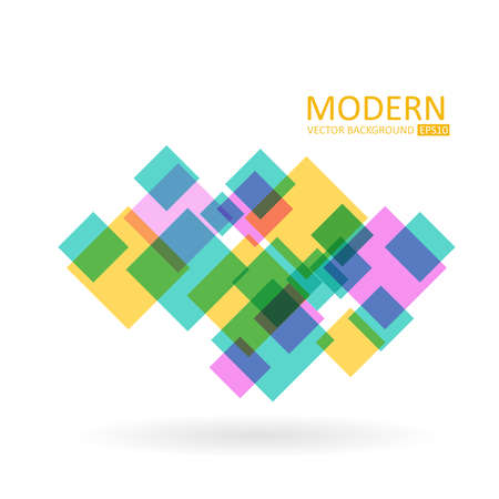 Modern vector abstract background. Transparent vector squares
