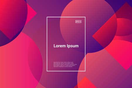 Liquid color background design. Fluid futuristic design posters. Eps10 vector. Trendy gradient shapes composition. Vectores