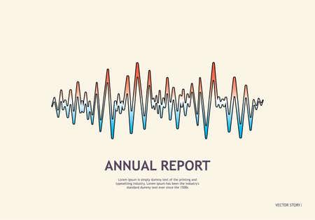 Music wave player logo. Colorful equalizer element Ilustração