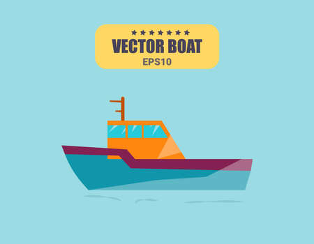 Ships at sea, shipping boats, ocean transport vector