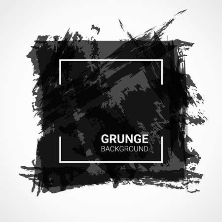 Abstract vector background. Black grunge design elements. Illustration of poster