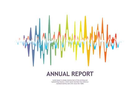 Music wave player logo. Colorful equalizer element. Isolated design symbol. Illustration Reklamní fotografie - 124409587