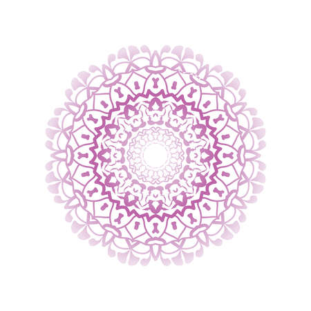 Floral round decorative symbol. Vintage decorative elements. Coloring book page. Circular pattern Standard-Bild - 124409905