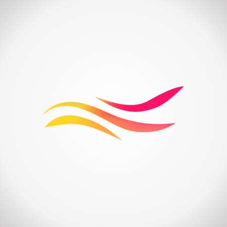 Modern business icon. Geometric emblem. Abstract trandy illustration and logo design Standard-Bild - 124409980