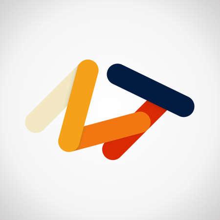 Modern business icon. Geometric emblem. Abstract trandy illustration and logo design Standard-Bild - 124409981