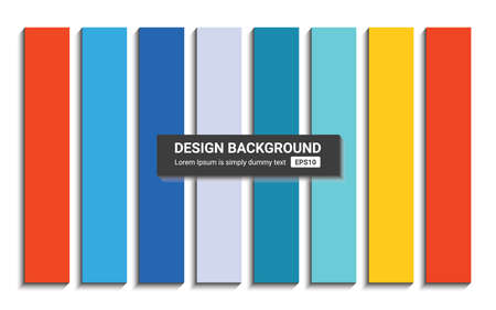 Vector color variant of background. Different modern wallpapers with blend shadow Standard-Bild - 124410051