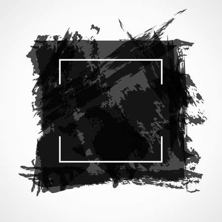 Abstract background. Black grunge design elements. Illustration of poster