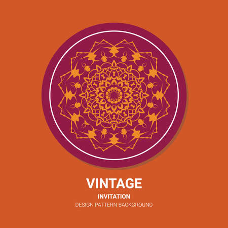 The illustration is a rich background. Abstract background. Rounded line geometric shapes. Radial banner. Can be used in the media. Vintage decorative elements. Vector illustration. Circular pattern.