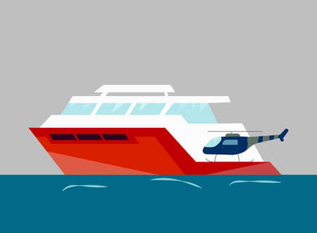 Ships at sea, shipping boats, ocean transport. Vector background