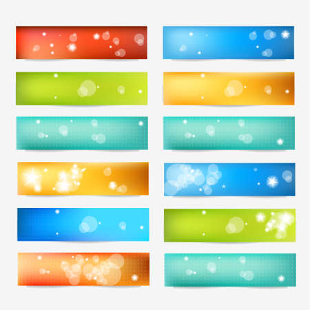 Set of Color Banner. Color Web Design Elements collection.