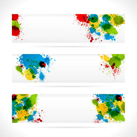 Set of isolated Color web Banners. Web Design Elements.