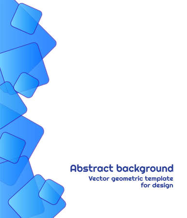 Modern background of colored gradients rhombuses. Vector illustration with blue squares on white.Abstract geometric colorful pattern for design of wallpaper, flyer, banner.