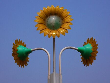 systems thinking: Sunflower-like city lights