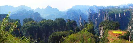 landform: Quartz sandstone peak forest landform scenery in Zhangjiajie - China
