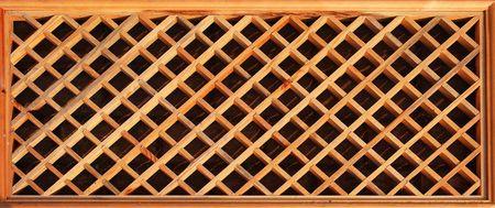 lattice window: Decorative wooden lattice window flower pattern