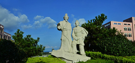 bing: dujiangyan Bing and his son built stone rizhao city in China Editorial