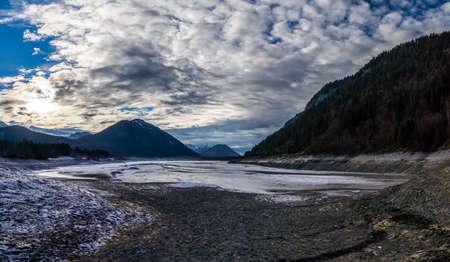 ebb: Low water on Lake sylvenstein