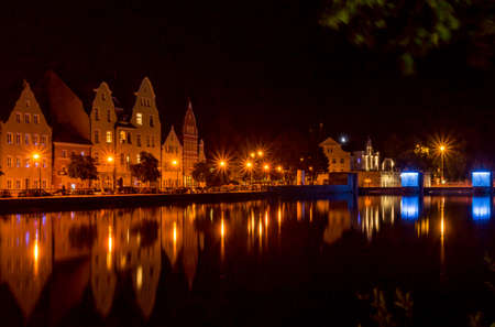 landshut: Landshut at night Stock Photo