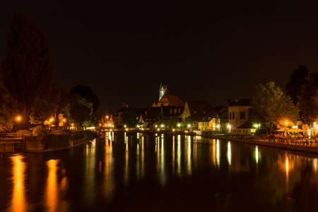 Landshut at night Фото со стока