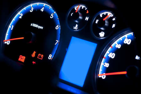 race car driver: car instrument panel
