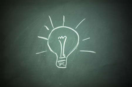 Bulb mark on blackboard