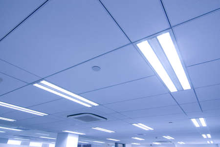 office lighting: office Ceiling  Stock Photo