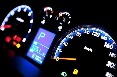 Car instrument panel  Standard-Bild