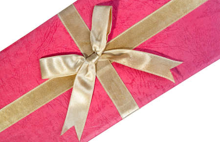 golden gift bow photo